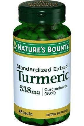 Natures Bounty Turmeric Standardized Extract 538 Mg 45 Kapsül 0