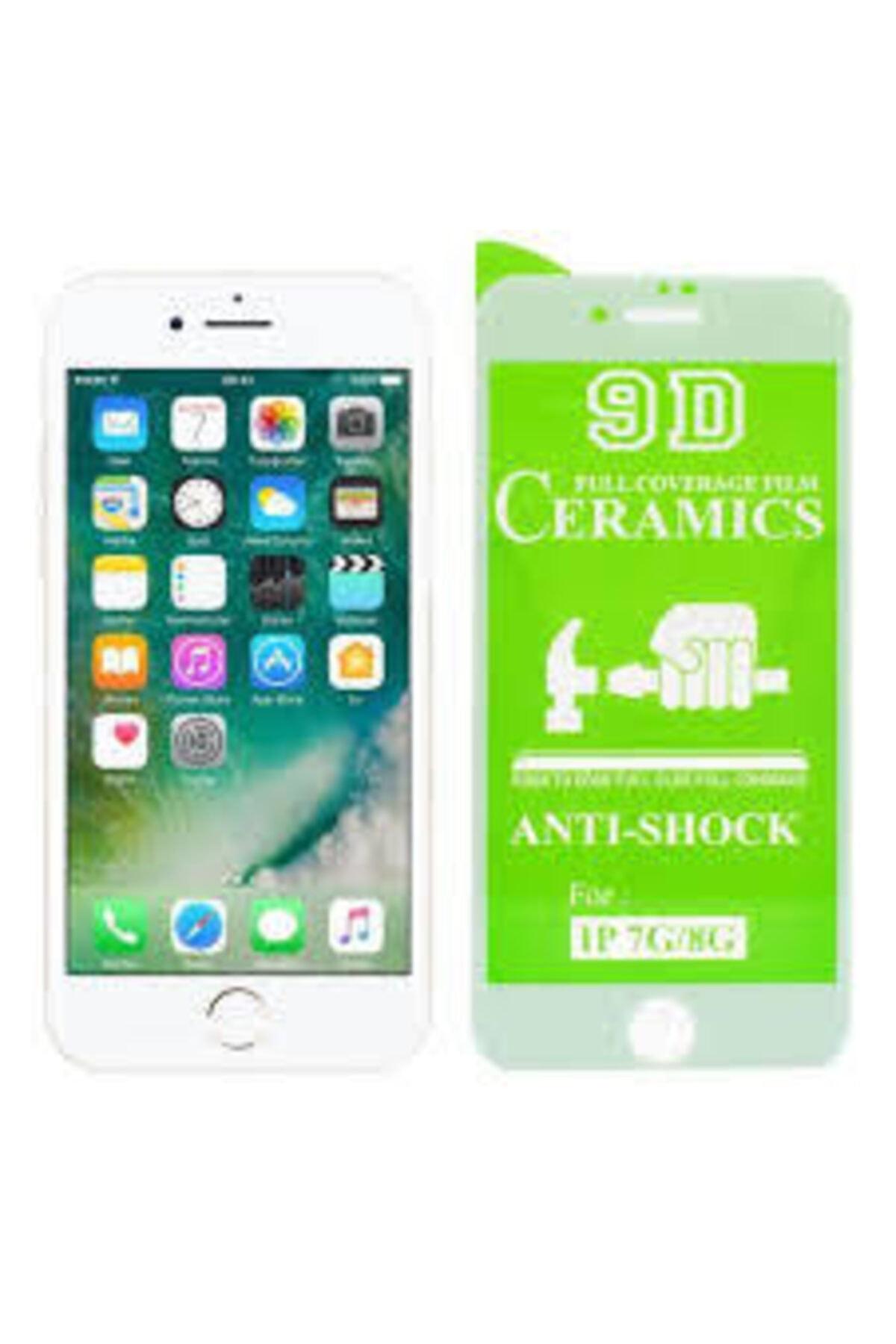 Unipha Ceramıc Iphone 7 Beyaz 9h Tam Ekran Koruyucu Full Ekran Kaplama
