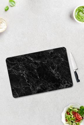 Decorita Siyah Mermer Görünümlü | Cam Kesme Tahtası - Cam Kesme Tablası | 30cm x 40cm 1