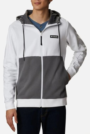 Columbia Erkek Beyaz Cs0090 Mountaın Vıew Fz Sweatshırt 0