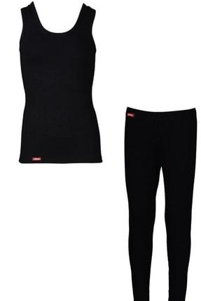 Picture of Çocuk Kız Erkek Unisex 2 Li Siyah Viloft Termal Atlet Içlik Ve Tayt Içlik Takımı 30005