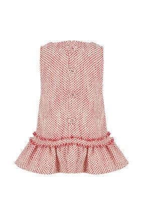 BLEU LAPİN BABY Kız Çocuk Kırmızı Desenli Elbise Lady Lisa 1