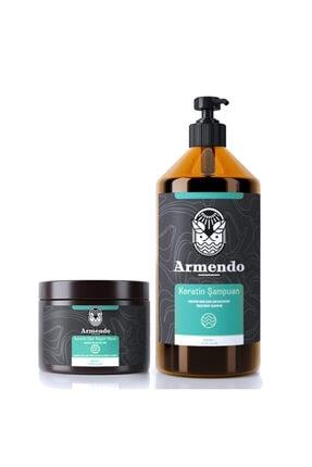 Armendo Keratinli Saç Bakım Şampuanı Ve Keratin Saç Maskesi Seti 0