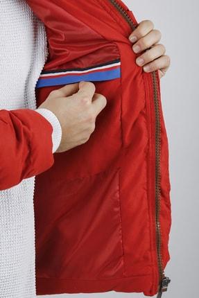 XHAN Erkek Kırmızı Kapüşonlu Comfort Slim Fit Şişme Mont 0yxe4-44076-04 4