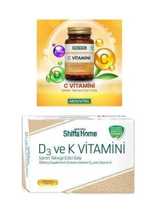 Aksu Vital C Vitamini 1250 Mg 60 Tablet & D3 Ve K Vitamini 1300mg 30 Kapsül 0