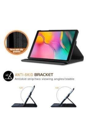 "E TicaShop Samsung Galaxy Tab A Sm T290 / T297 8"" Siyah 360 Derece Standlı Tablet Kılıfı Set 1"