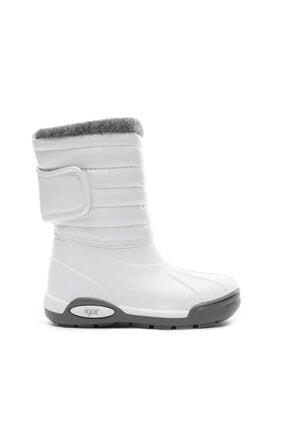 Çocuk Beyaz Yağmur Kar Botu W10168 resmi