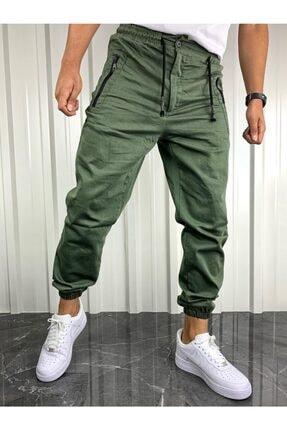 İnsane Minds Erkek  Haki Yeşil Fermuarlı Cepli Jogger Pantolon 2