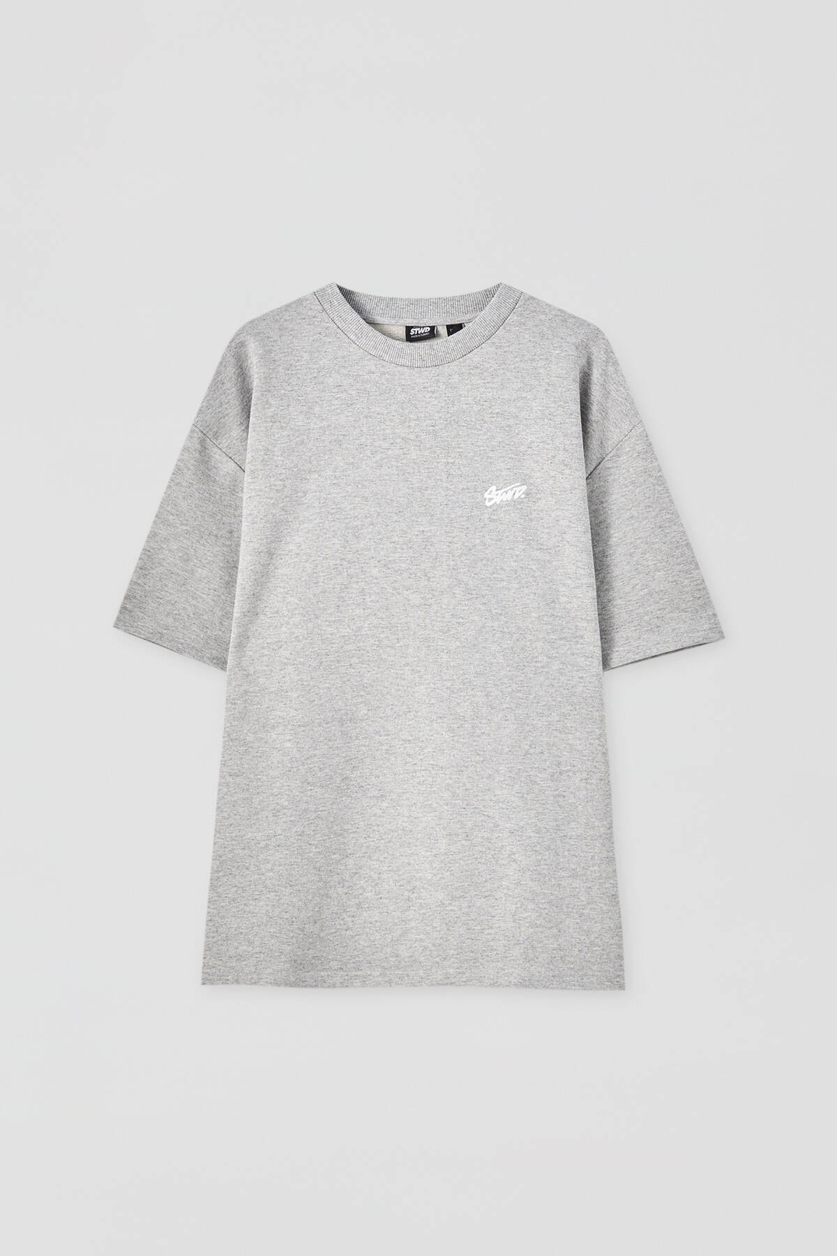Pull & Bear Erkek Açık Gri Homewear Kapsül Koleksiyonu T-Shirt 04240542 4