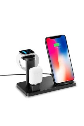 Mcstorey Kablosuz Şarj Aleti iPhone Airpods Apple Watch 1/2/3/4/5 Hızlı Şarj 10W Type-C Stand Çoklu Şarj 0