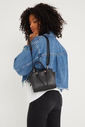 Çantacımstore Kadın Siyah El Ve Omuz Çantası 4
