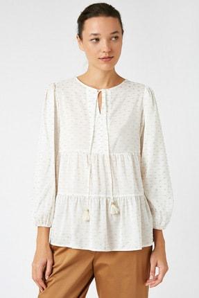 Koton Kadın Altın Desenli Bluz 1KAK68719CW 2