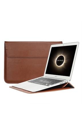 Apple MacBook Air Retina 13.3 13  Vegan Deri Çanta Kılıf Sleevebag  Stand Pu1 resmi