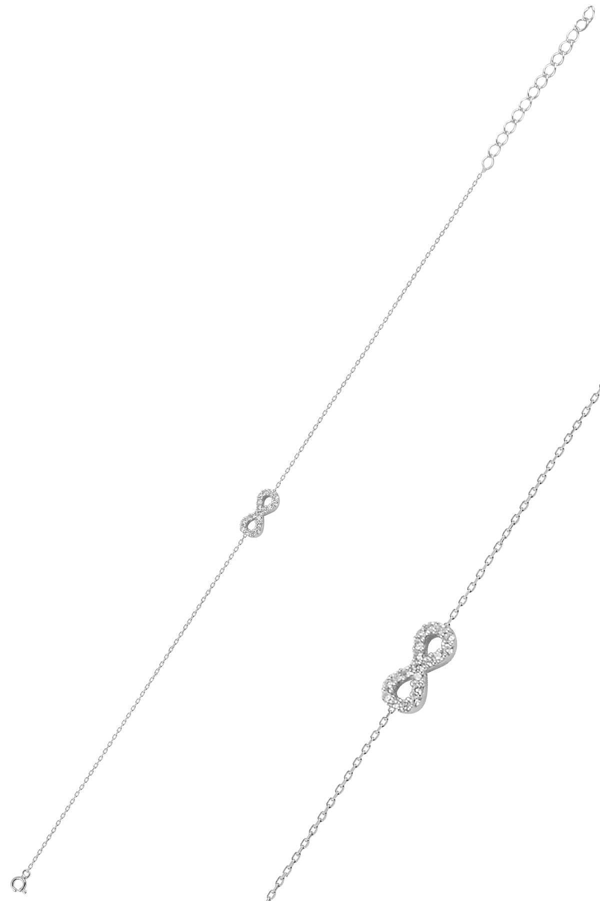 Söğütlü Silver Gümüş Rodyumlu Sonsuzluk Bileklik 0