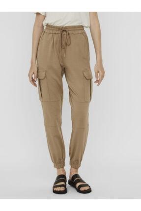 Vero Moda Kadın Bej Paçası Lastikli Kargo Pantolon 10233502 VMEVA 2