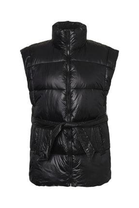Vero Moda Kadın Siyah Dik Yaka Kemerli Şişme Yelek 10234578 VMJAGGER 4