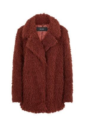 Vero Moda Kadın Kızıl Kahverengi Suni Kürk 10217012 VMJAYLAMEG 10217012 4