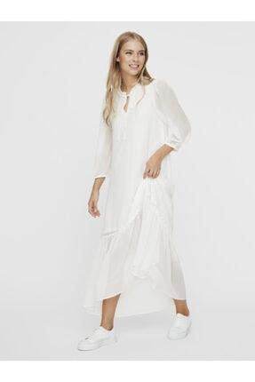 Vero Moda Kadın Carnelian Desenli Uzun Truvakar Kol Elbise 10230399 VMNUKA 2