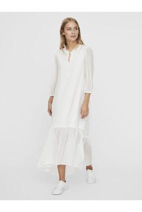 Vero Moda Kadın Carnelian Desenli Uzun Truvakar Kol Elbise 10230399 VMNUKA 4