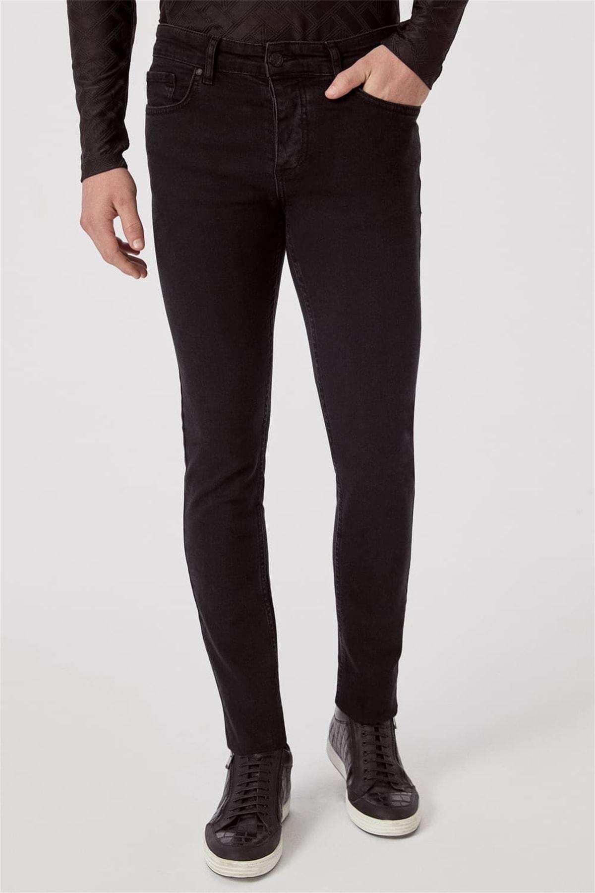 Efor 065 Slim Fit Siyah Jean Pantolon 0