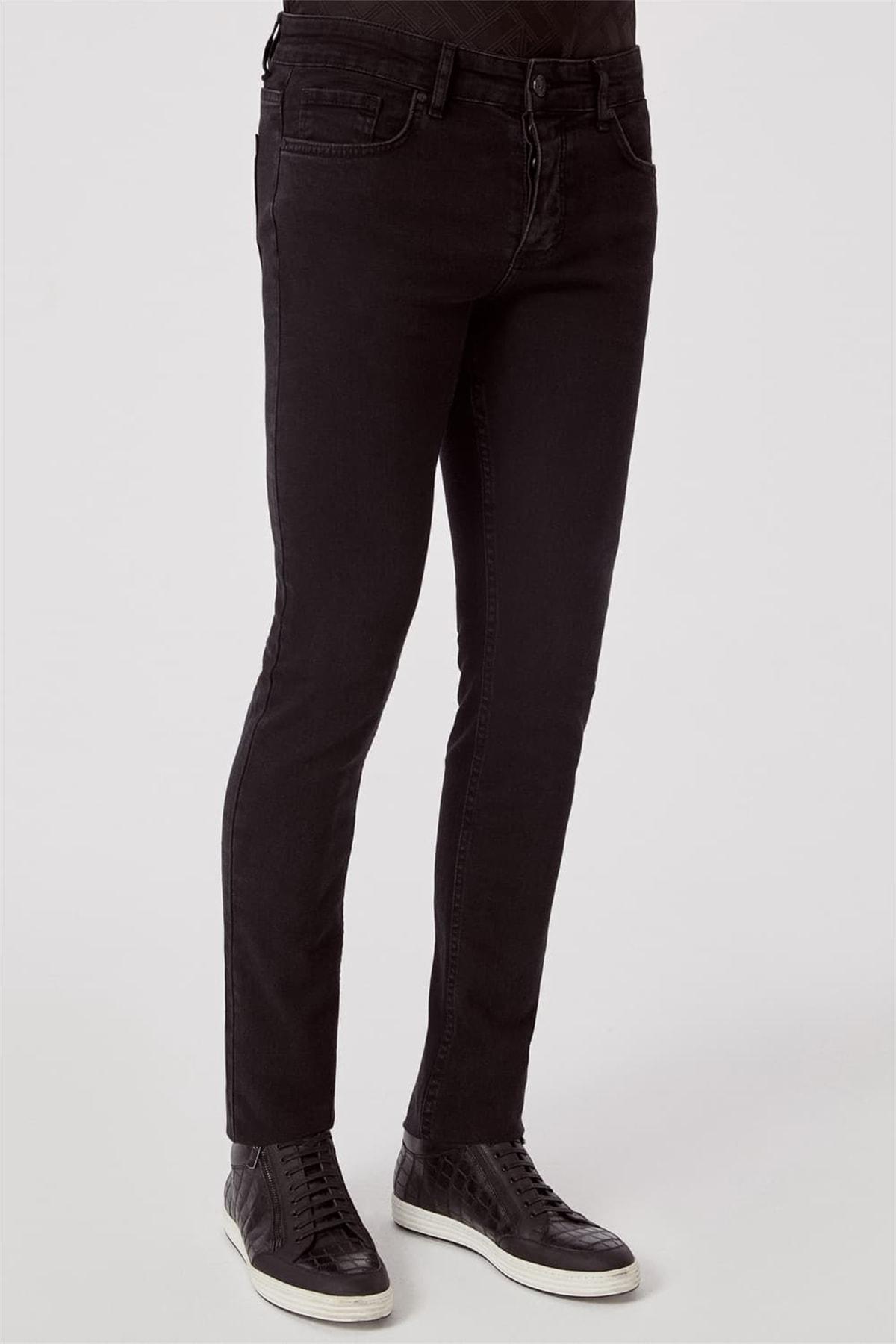 Efor 065 Slim Fit Siyah Jean Pantolon 2