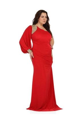 Günay Kadın Kırmızı Abiye Elbise 1