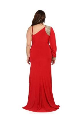 Günay Kadın Kırmızı Abiye Elbise 2