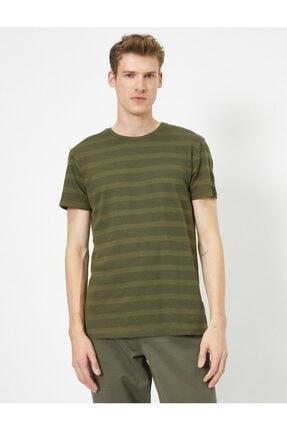 Koton Erkek Yeşil Bisiklet Yaka T-Shirt 0YAM12329OK 2