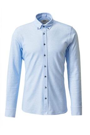 Altınyıldız Classics 360 Derece Her Yöne Esneyen Düğmeli Yaka Örme Tailored Slim Fit Gömlek 0