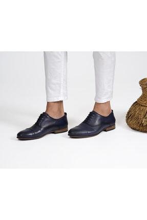 Erkek Lacivert Klasik Ayakkabı Deri Lacivert