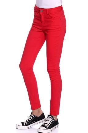 LİMON COMPANY Kadın Kırmızı Slim Fit Pantolon 501961796 2