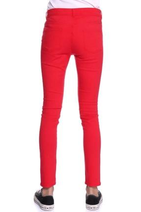 LİMON COMPANY Kadın Kırmızı Slim Fit Pantolon 501961796 3