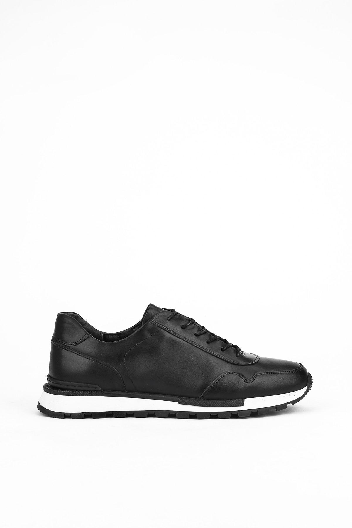 Erkek Siyah Hakiki Deri Ayakkabı 10371 241