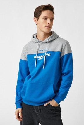 Koton Erkek Mavi Sweatshirt 1YAM71307MK 1