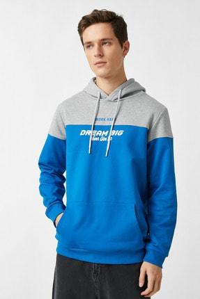 Koton Erkek Mavi Sweatshirt 1YAM71307MK 2