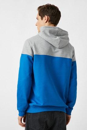 Koton Erkek Mavi Sweatshirt 1YAM71307MK 3