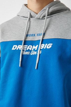 Koton Erkek Mavi Sweatshirt 1YAM71307MK 4