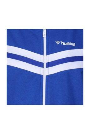 HUMMEL Unisex Çocuk Mavi Malua Fermuarlı Sweatshırt 3