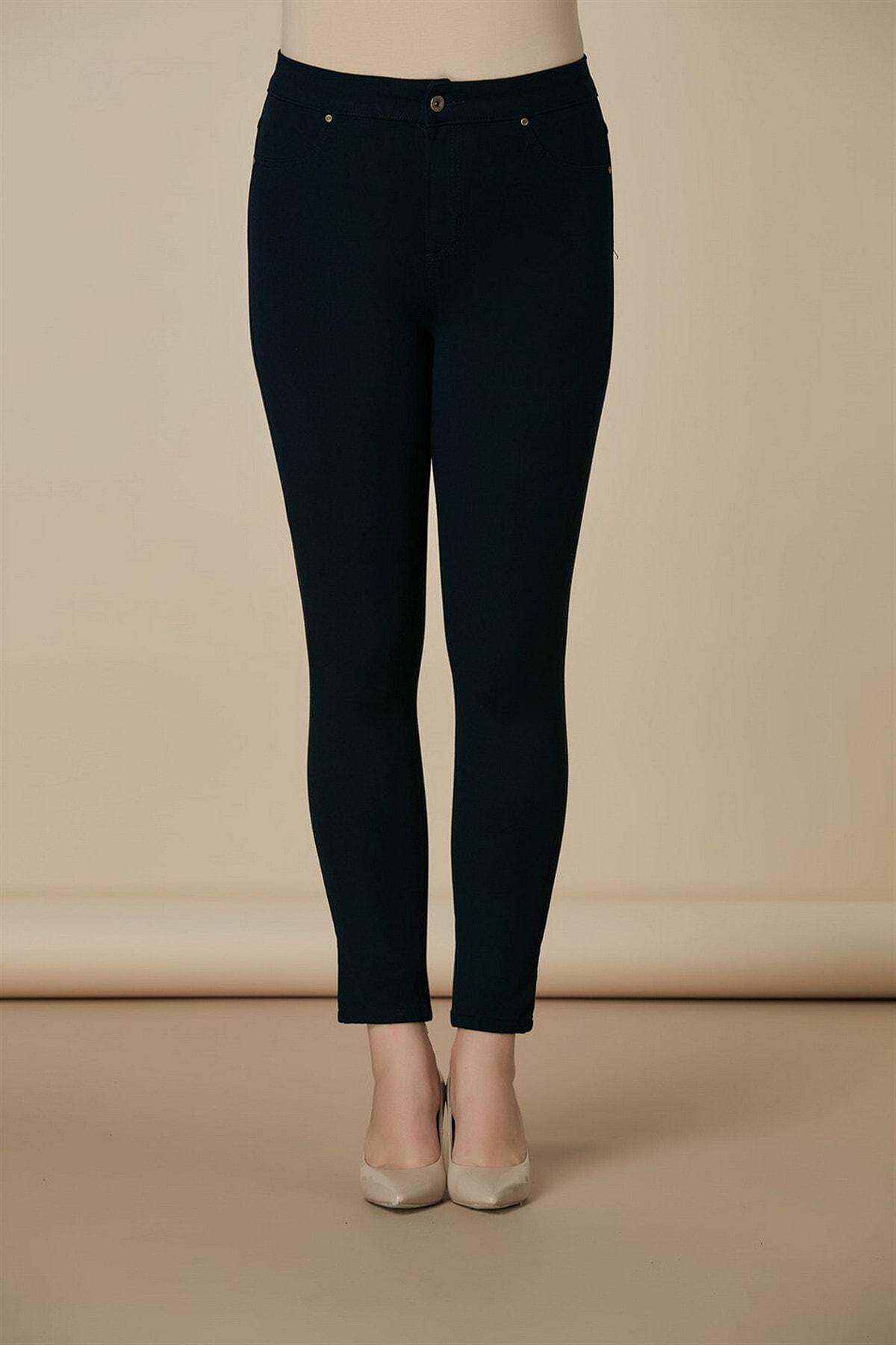Kadın Lacivert Kanvas Pantolon
