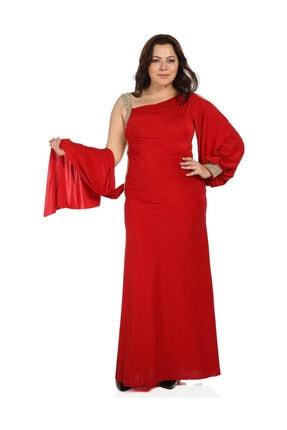 Günay Kadın Kırmızı Abiye Elbise 41243100006901 0