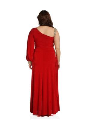 Günay Kadın Kırmızı Abiye Elbise 41243100006901 2