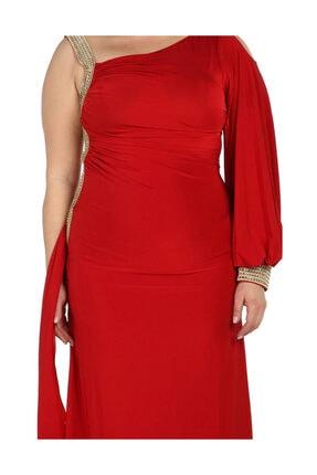 Günay Kadın Kırmızı Abiye Elbise 41243100006901 3