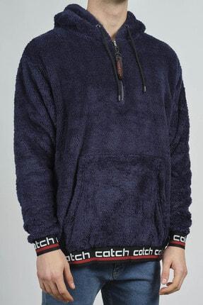 XHAN Lacivert Kanguru Cepli Peluş Sweatshirt 1KXE8-44270-14 1