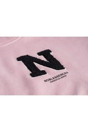 NOBLESSENCES Kadın Pudra Crop Sweatshirt 4