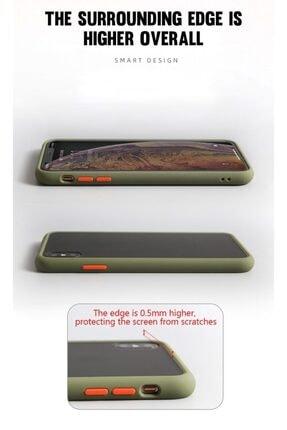 coverest Apple Iphone Xs Max Silikon Kenarlı Arkası Buzlu Şeffaf Mat Kılıf Mavi 3