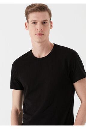Mavi Siyah Basic Tişört 2