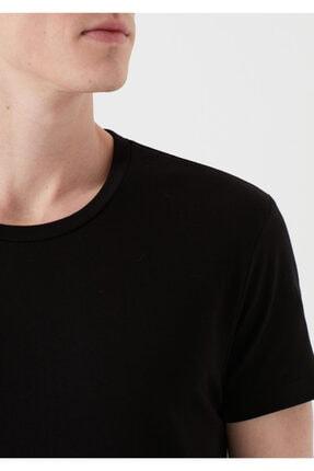 Mavi Siyah Basic Tişört 4