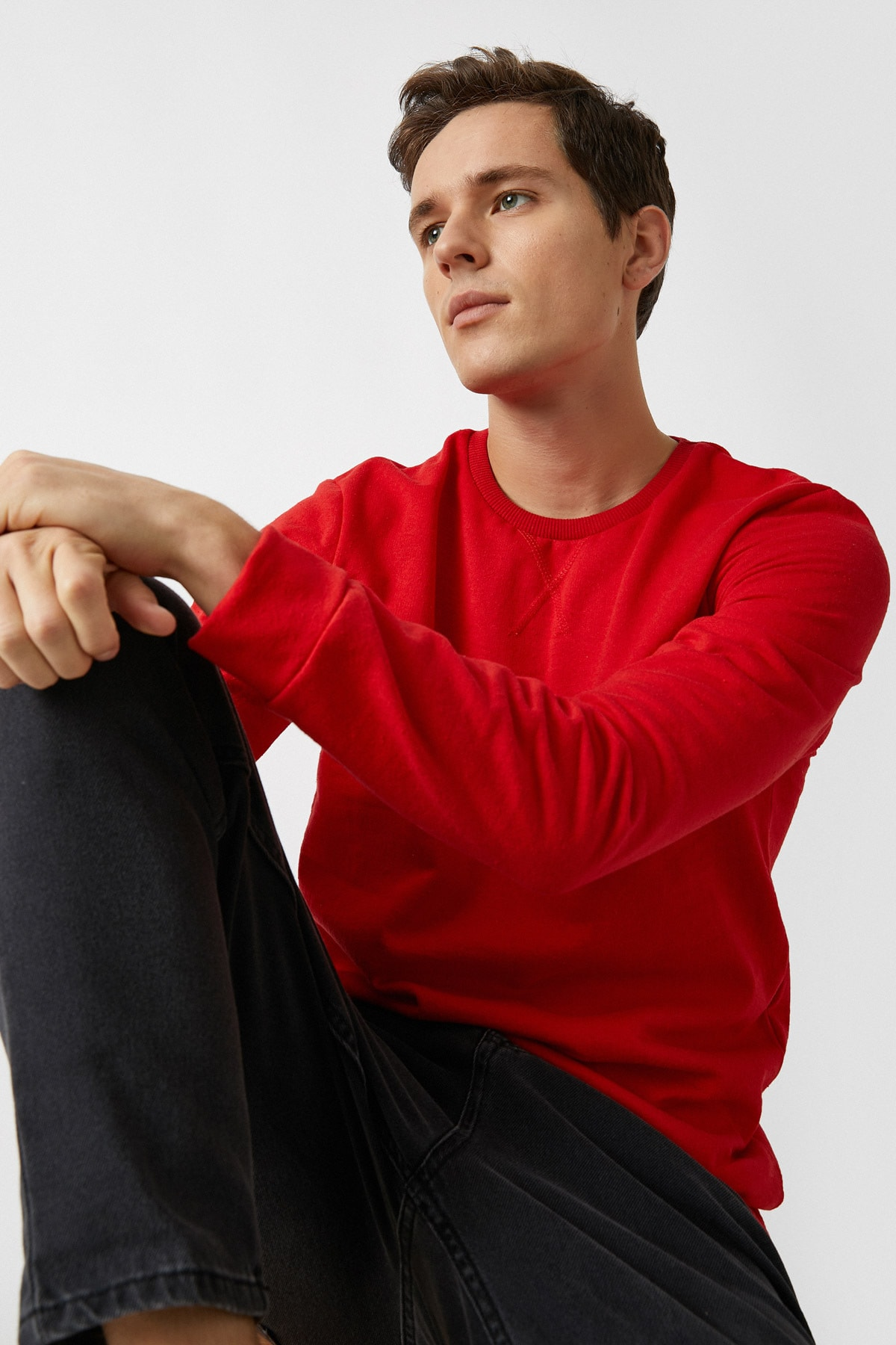 Erkek Kırmızı Sweatshırt 1YAM71740LK
