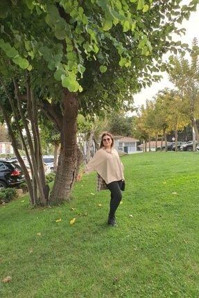 Mila Kadın Bej Ekose Gömlek 2