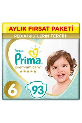 Prima Bebek Bezi Premium Care 6 Beden 93 Adet Aylık Fırsat Paketi 0
